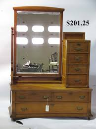 Tiger Oak Dresser With Mirror by Hap Moore Antiques Auctions