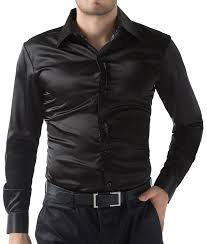 PAUL JONES Mens Slim Fit Silk Like Satin Luxury Dress Shirt At Amazon Clothing Store