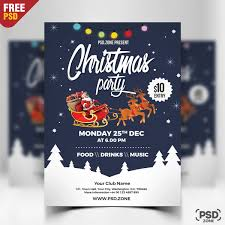 Christmas Party Flyer Free PSD PSD Zone