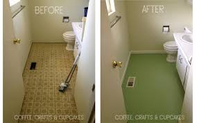 Tiling A Bathroom Floor Over Linoleum by You Can Paint Linoleum Coffee Crafts U0026 Cupcakes