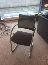 Used Humanscale Freedom Chair by Used Wiesner Hager Point Mesh Cantilever Meeting Room Chair In Black