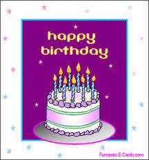 FUN TASTIC eCards Birthday cake & candles clipart animation