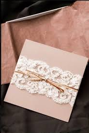 Specifically The Blush Rose Colored Paper Lace Belt Plus Skinny Vintage Bow And Wedding Invitations