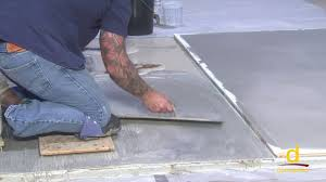Sealing Asbestos Floor Tiles With Epoxy by How To Encapsulate Vinyl Tile With Concrete Topping Part 2 3