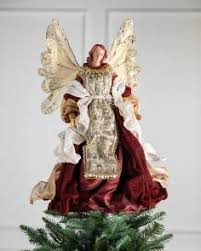 18in Holiday Grace Angel Tree Topper By Balsam Hill