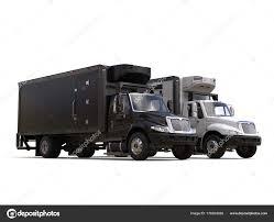 White Black Refrigerator Trucks Side Side — Stock Photo © Trimitrius ...