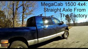 100 8 Lug Truck Dodge Ram Mega Cab 1500 4x4 Straight Axle From The Factory