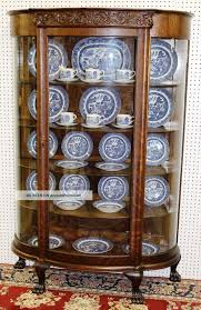 Curved Glass Curio Cabinet Antique by Top Antique China Cabinet Value On Refinish An Antique Two Oak