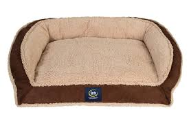 Serta Dog Bed by Enhanced Comfort Shredded Foam Fuzzy Couch Dog Bed Serta Pet Beds