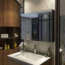schwarz badezimmer spiegelschrank 85x65 cm spiegel
