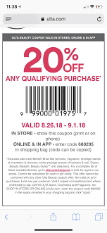 ULTA 20% Off Coupon 8/26 To 9/1 : MUAontheCheap Ulta Free Shipping On Any Order Today Only 11 15 Tips And Tricks For Saving Money At Business Best 24 Coupons Mall Discounts Your Favorite Retailers Ulta Beauty Coupon Promo Codes November 2019 20 Off Off Your First Amazon Prime Now If You Use A Discover Card Enter The Code Discover20 West Elm Entire Purchase Slickdealsnet 10 Of 40 Haircare Code 747595 Get Coupon Promo Codes Deals Finders This Weekend Instore Printable In Store Retail Grocery 2018 Black Friday Ad Sales Purina Indoor Cat Food Vomiting Usa Swimming Store