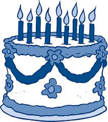 Blue birthday cake clip art birthdaycake clipart