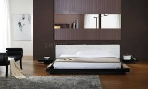 contemporary bedroom furniture sets featuring crown cut mahogany