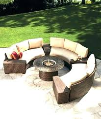 Round Outdoor Couch Circular Seating Half Circle Doubtful Stylish Home Interior Swing Chair Canopy Porch Sofa Unique