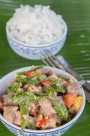cuisine express bicol express with rice stock photo image of dish 75895272