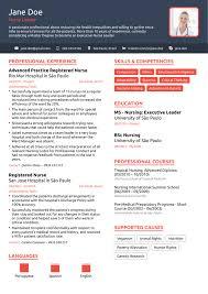 Nursing Resume Example Of