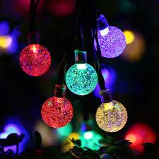 Amazon Qedertek Globe Outdoor Solar String Lights 20ft 30 LED