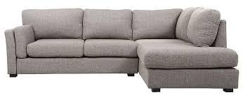 canapé d angle design tissu canapé d angle droit design 5 places tissu gris milord miliboo