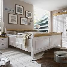 maison belfort massivholz doppelbett cenan massivholz weiß laugenfarbig