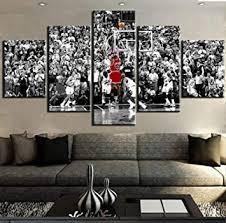 mzcyl leinwand bild malerei michael basketball sport dekorative schlafzimmer wohnzimmer home wall decor kunstwerk 5 stücke rahmenlose