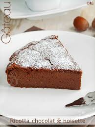 recette avec ricotta dessert alter gusto gâteau à la ricotta chocolat noisette