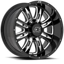 100 Eagle Wheels For Trucks AE Hardrock Series 0168 Gloss Black And Milled Single Wheel
