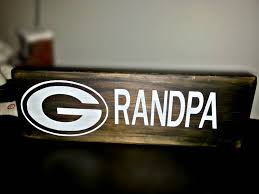 Green Bay Packers Pumpkin Carving Ideas by Grandpa Sign Green Bay Packers Grandpa Sign Packers Sign