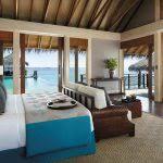 chambre sur pilotis maldives shangri la villingili resort spa hôtel maldives séjour océan