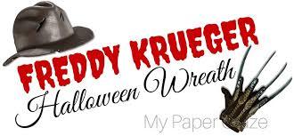 Freddy Krueger Pumpkin by Diy Freddy Krueger Halloween Wreath My Paper Craze