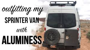 100 Truck And Van Accessories Aluminess Roof Rack Storage On My Sprinter YouTube