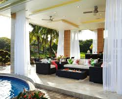 Pottery Barn Outdoor Curtains by Patio Ideas Tropical Patio Furniture Clearance Tropical Garden