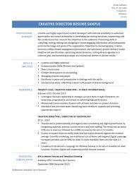 Creative Director Resume 5 Samples