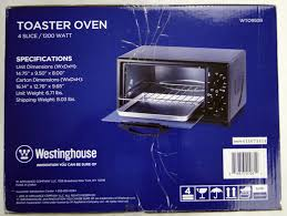 Westinghouse Select Series Wto1010b 4 Slice Countertop Toaster Oven