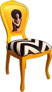 casa padrino barock luxus esszimmer stuhl schwarz weiß streifen gelb designer stuhl limited edition
