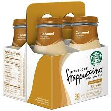 Starbucks Frappuccino Coffee Drink Caramel 95 Oz Glass Bottles 4 Count