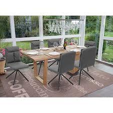 6x esszimmerstuhl mcw g58 küchenstuhl stuhl drehbar auto position textil stoff grau