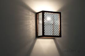 DIY Wood Light Sconce With Turned On How To Make A
