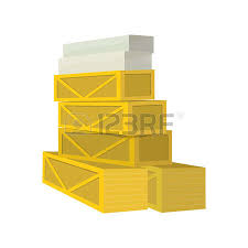 Cardboard Boxes And Wooden Crates Stacked In A Pile Vector Flat Style Transportation