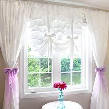Plum And Bow Lace Curtains by Balloon Shade Curtain
