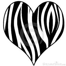 Zebra Coloring Pages On Print Heart Stock Image 19543251
