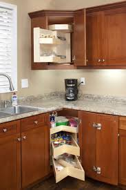 Upper Corner Kitchen Cabinet Ideas by Upper Corner Cabinet Solutions With Kitchens Turn The Cabinets