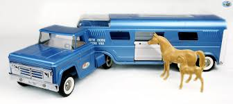 Awesome Vintage 1960 Tonka 'Vista Dome Horse Van' Truck And Trailer ...