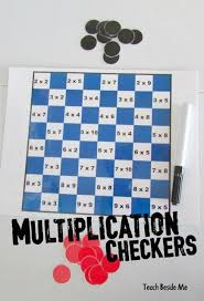 FREE Multiplication Checkers Math Games