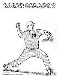 Roger Clemens Baseball Player Coloring Picture