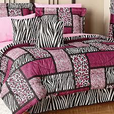 fingerhut safari pink queen 20pc print bed set