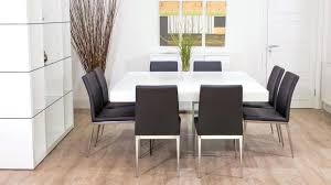 8 Seater Dining Table Square And Modern Chairs