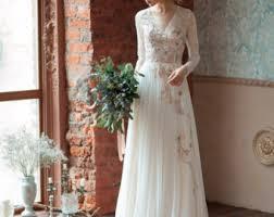 Lace Wedding Dress GLORIA Long Sleeves Comfortable Boneless
