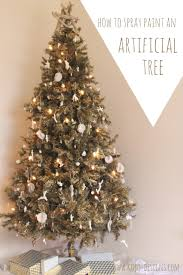 Best Type Of Artificial Christmas Tree by How To Spray Paint An Artificial Christmas Tree