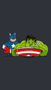 captain america funny hulk hungry iphone wallpaper image