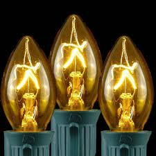 25 pack c7 twinkle outdoor string light replacement bulbs yellow
